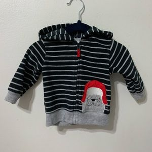 CHILD OF MINE | Holiday Walrus Zip Hoodie 0-3M